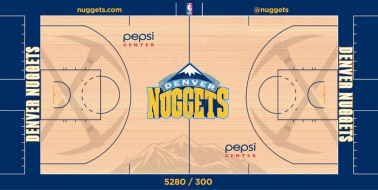 Nuggets court design