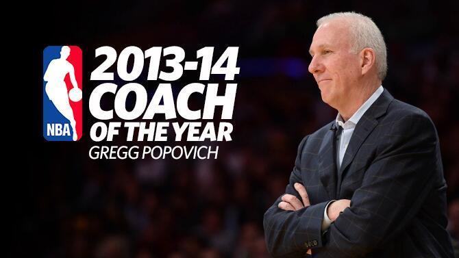Gregg Popovich, Coach of the Year nel 2014 per la terza volta.