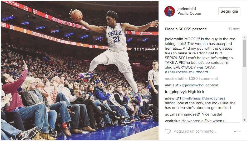 Instagram Joel Embiid