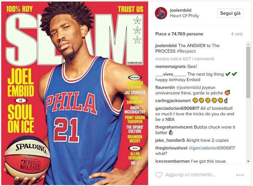 Instagram Joel Embiid Allen Iverson Slam
